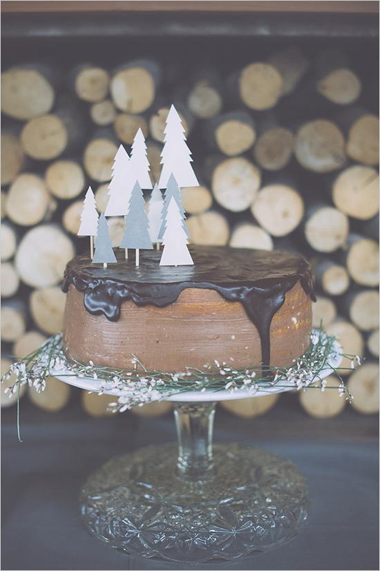 chocolatewinterweddingcake