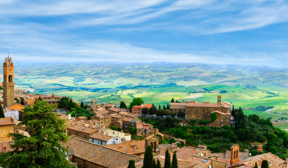 The ancient Italian town of Montalcino